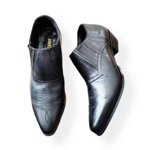 Durango Western Shoe Boot Black Low Heel Slip On 8